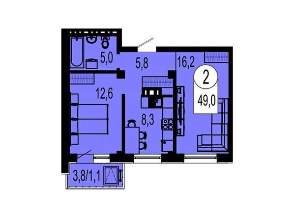 Планировка двухкомнатной квартиры 49 кв.м