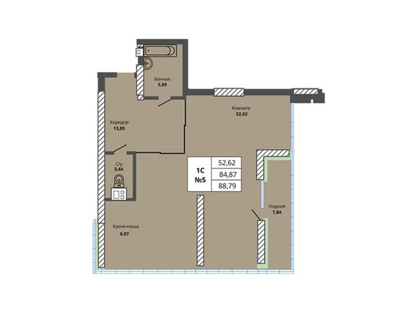 Планировки Жилой комплекс PRIME HOUSE (Прайм хаус) - Планировка однокомнатной квартиры 84,87 кв.м