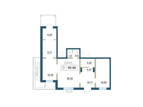 Планировка  89,88, 90 м²
