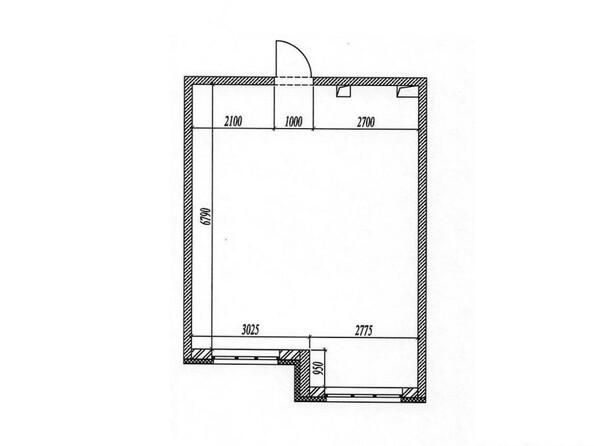 1-комнатная 41.7 кв.м