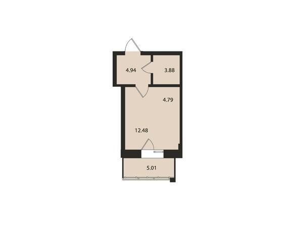 Планировки Жилой комплекс ВДОХНОВЕНИЕ - Планировка однокомнатной квартиры 31,1 кв.м