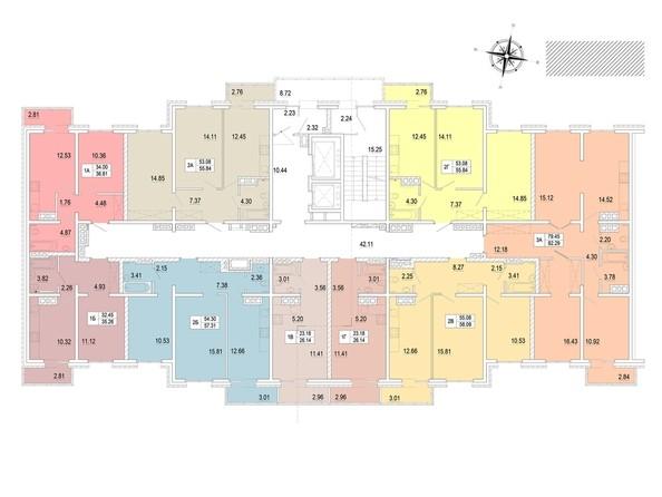 Планировка 11-18 этажей