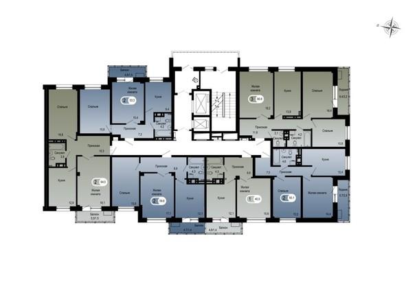 Планировки ТИХИЕ ЗОРИ, дом 1 (Спецстрой) - 1 подъезд
