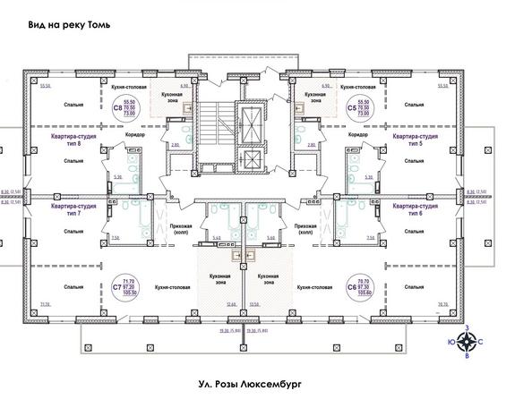 Планировка 18 этажа
