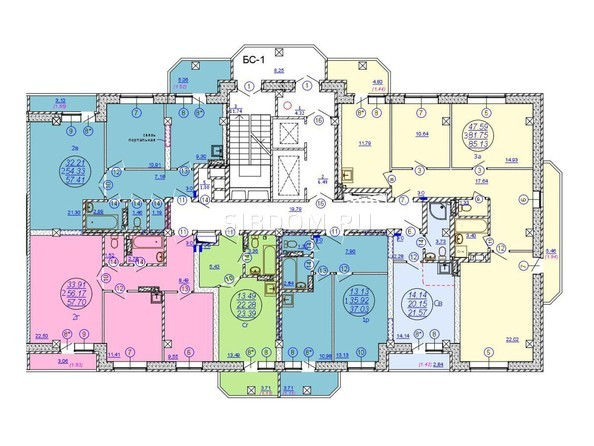 Планировки Жилой комплекс МОЛОДЕЖНЫЙ, дом 3 - Подъезд 3. Планировка 16-19 этажей