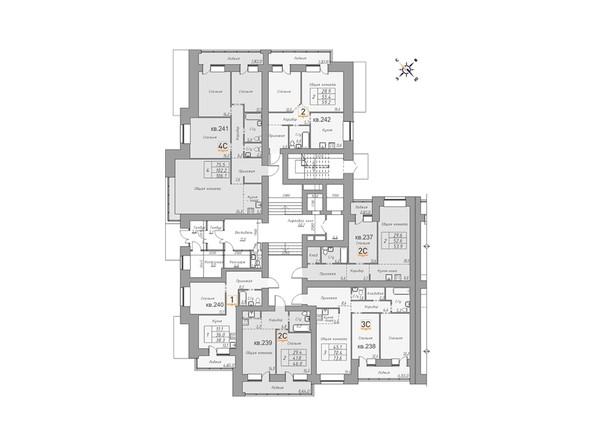 Планировки Жилой комплекс ДВЕ ЭПОХИ, корпус 1 - Планировка 1 этажа, 3 б/с