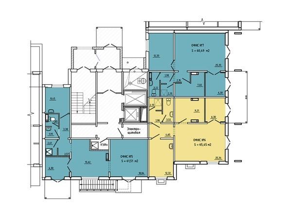 Планировка первого этажа подъезд №1