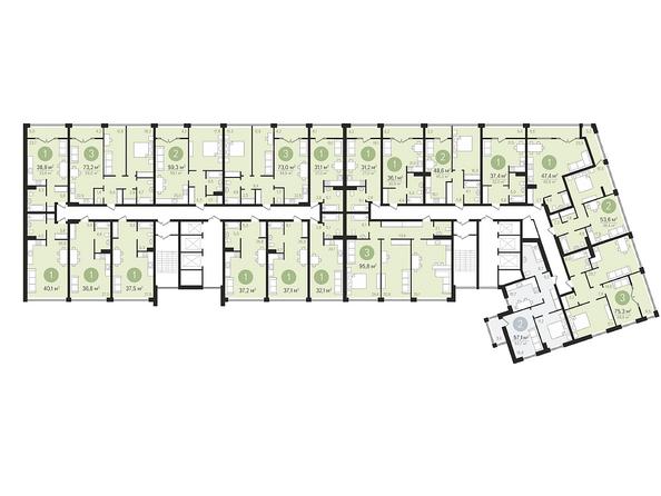 Планировки Жилой комплекс ПАНОРАМА, дом 3 - Планировка 5 этажа
