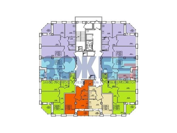 Планировки Жилой комплекс БЕРЕЗОВАЯ РОЩА, дом 8 - Планировка 8 этажа