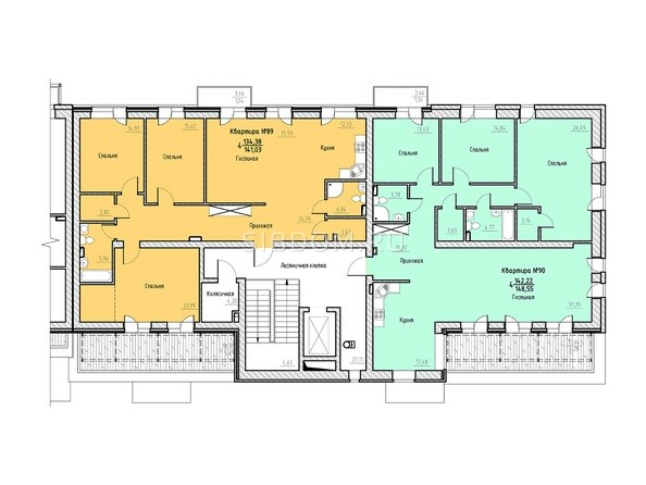 Планировка 7 этажа 4 подъезд