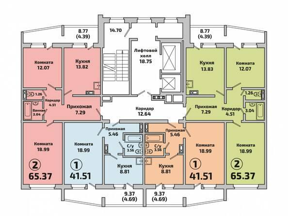 Планировка 2 подъезда дом 603
