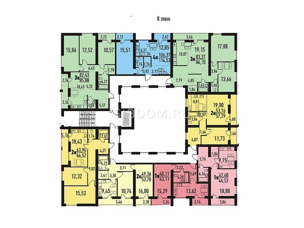 Планировка 8 этажа