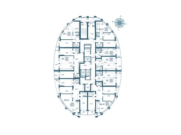 Планировки Жилой комплекс ФЛОТИЛИЯ - Планировка 3-24 этажей дома «Адмирал Нахимов»