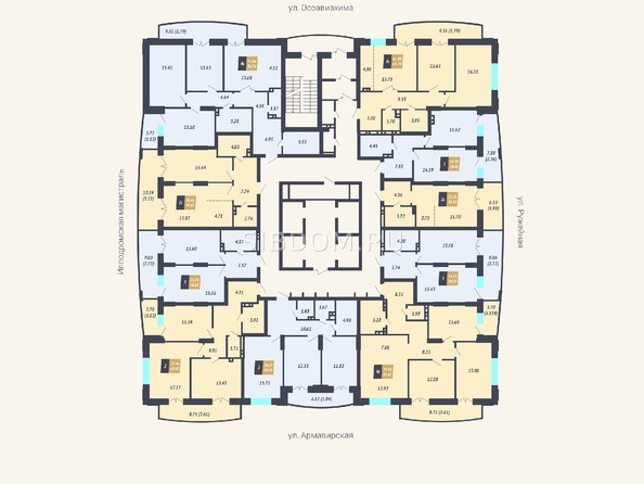 Планировки Жилой комплекс КАЛИНИНСКИЙ-2 - Планировка 3 этажа
