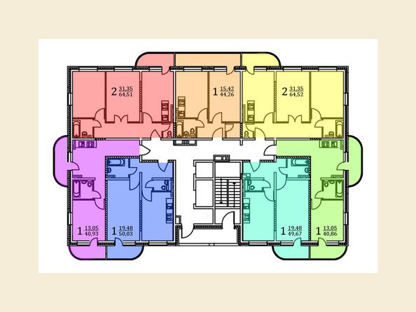 Планировки Жилой комплекс МОСТ - Планировка 3-7 этажей