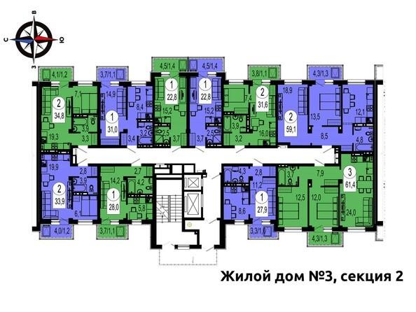 Секция 2. Типовая планировка этажа.