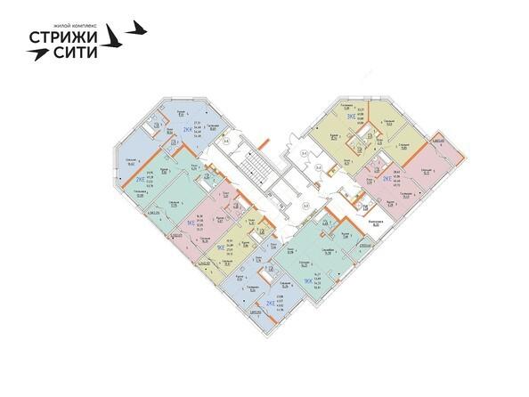 Планировки Жилой комплекс СТРИЖИ СИТИ, 1 оч - Планировка 2 этажа