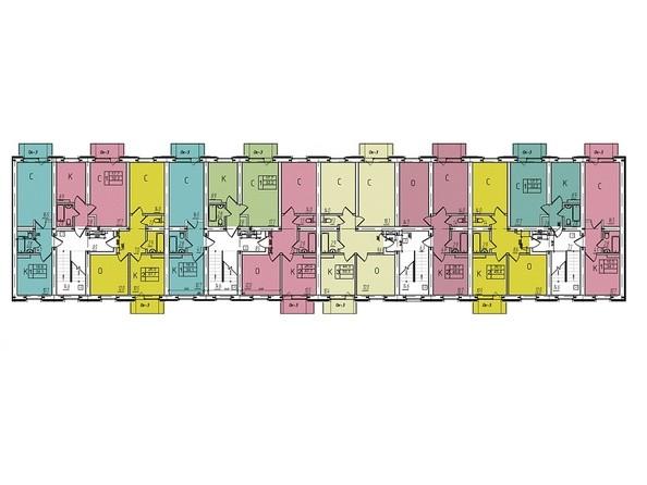 Блок 6. Планировка 2-5 этажей