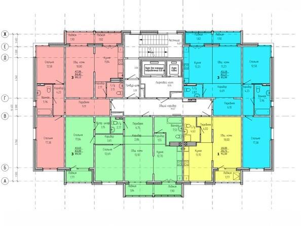 Планировки Жилой комплекс ВРЕМЕНА ГОДА, дом 2 - Планировка 2-11 этажей