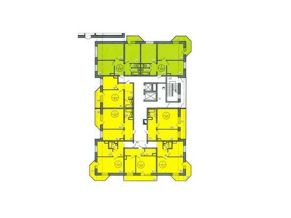Блок-секция Г. Планировка типового этажа