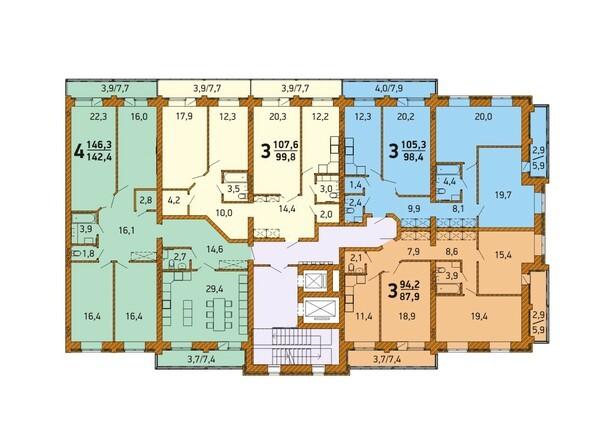 Планировка 4-5 этажа