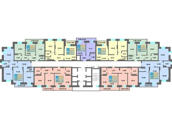 Планировка 20-22 этажей