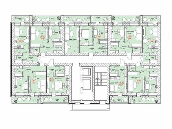 Планировки Жилой комплекс ЛЮБИМЫЙ, дом 7 - Подъезд 1. Планировка 12-14 этажей