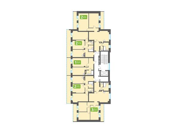 Планировки Жилой комплекс МАРСЕЛЬ, 6 этап - Блок-секция 14. Планировка типового этажа