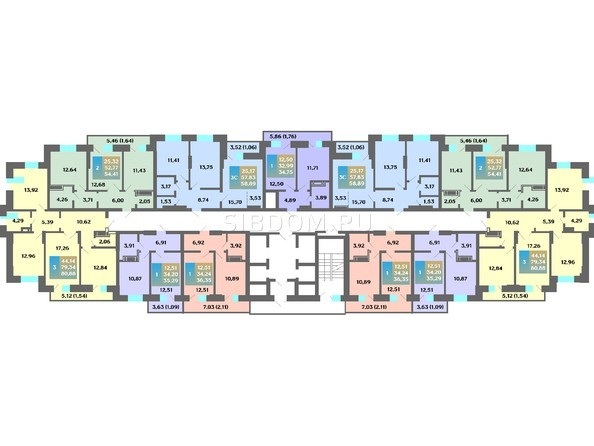 Планировка 2-19 этажей