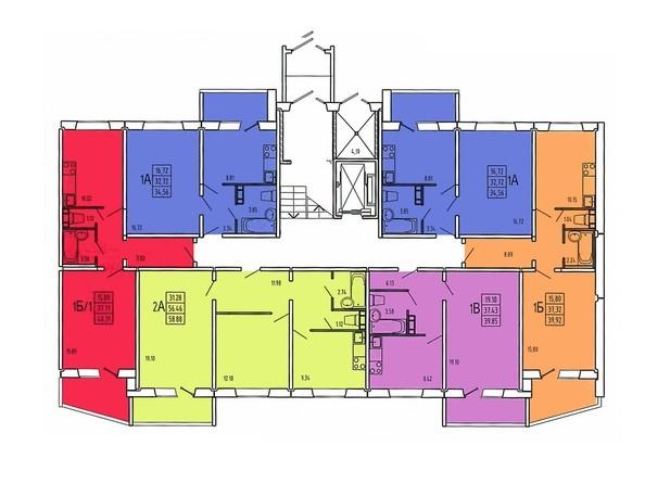 Планировки Жилой комплекс ЗНАМЕНСКИЙ КВАРТАЛ (Журавлева,3), этап 2 - Планировка 1 этажа