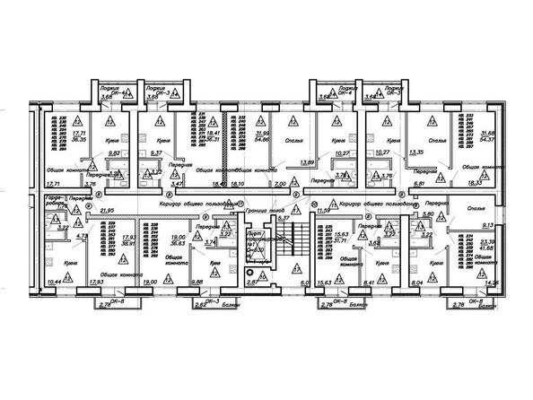 Планировка типового этажа. Блок-секция 4