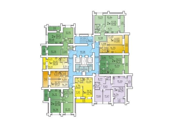Планировка 4, 6, 8 этажа