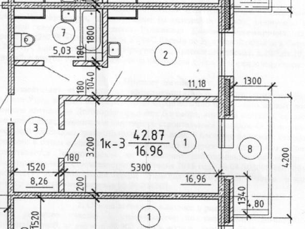 Продам 1-комнатную, 42.87 м2, . Фото 4.