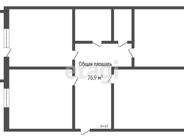 Продам 3-комнатную, 76.9 м2, . Фото 1.