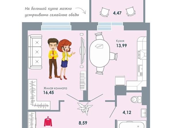 Продам 1-комнатную, 47.62 м2, ЧИСТАЯ СЛОБОДА, дом 32. Фото 1.