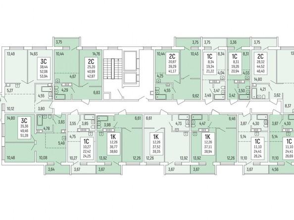 Продам 1-комнатную, 39.35 м2, Акация на Ватутина, дом 1. Фото 2.